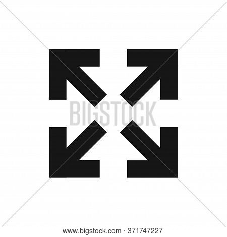Diagonal Arrow For Web Design Vector Icon In Flat Style, Vector Isolated