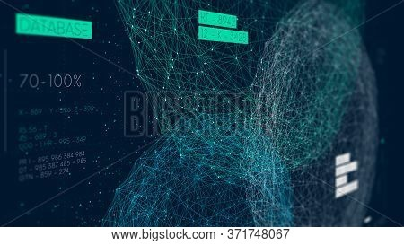 Three Databases, Data Analysis And Sorting, Digital Information Field, High Technology, Monitor Scre