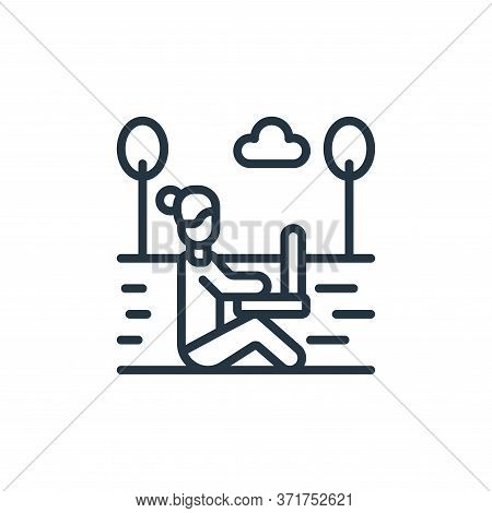 digital nomad icon isolated on white background from  collection. digital nomad icon trendy and mode