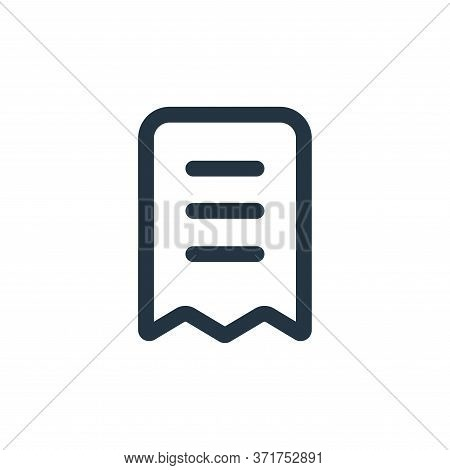 receipt icon isolated on white background from  collection. receipt icon trendy and modern receipt s