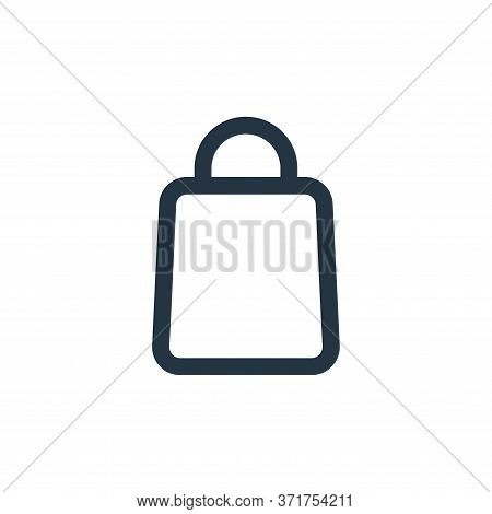 bag icon isolated on white background from  collection. bag icon trendy and modern bag symbol for lo