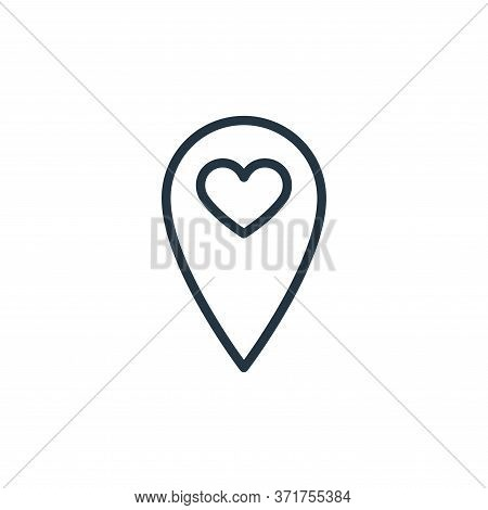 location icon isolated on white background from  collection. location icon trendy and modern locatio