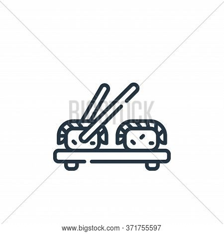 sushi icon isolated on white background from  collection. sushi icon trendy and modern sushi symbol