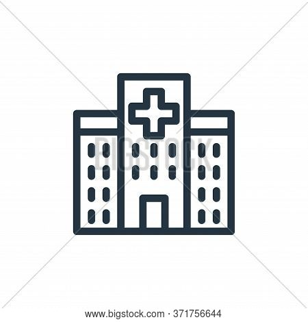 hospital icon isolated on white background from  collection. hospital icon trendy and modern hospita