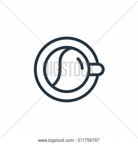 coffee cup icon isolated on white background from  collection. coffee cup icon trendy and modern cof