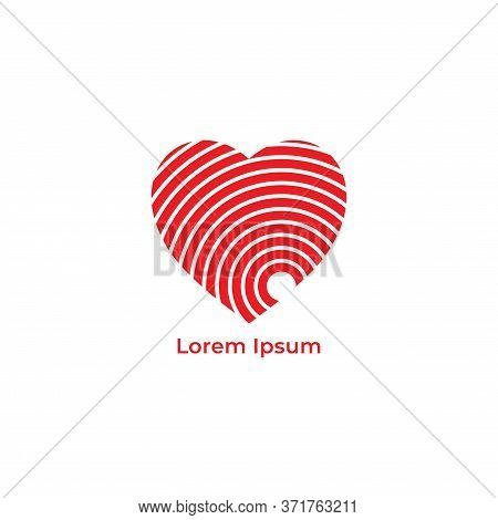 Vibrations From The Bottom Of The Heart Vector Illustration. Love Icon With Signal Wave Design Conce