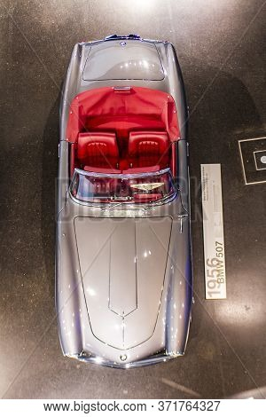 Munich, Germany - June 27, 2013: Bmw 507 Car At Bmw Welt (bmw World) In Munich, Germany, Bmw Welt Is