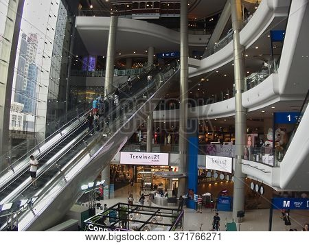 Terminal 21 Shopping Mall Bangkok Thailand-13 May 2019:terminal 21  Is A Chain Of Mixed-use Complexe