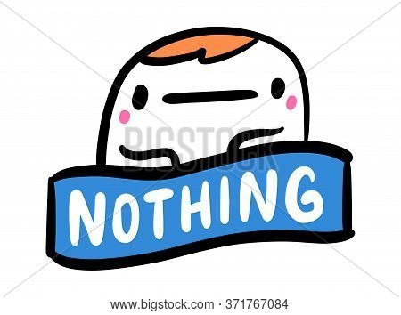 Nothing Hand Drawn Vector Illustration In Cartoon Comic Style Man Indifferent