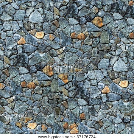 Seamless masonry wall closeup background - texture pattern for continuous replicate.