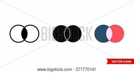 Merge Icon Of 3 Types. Isolated Vector Sign Symbol.