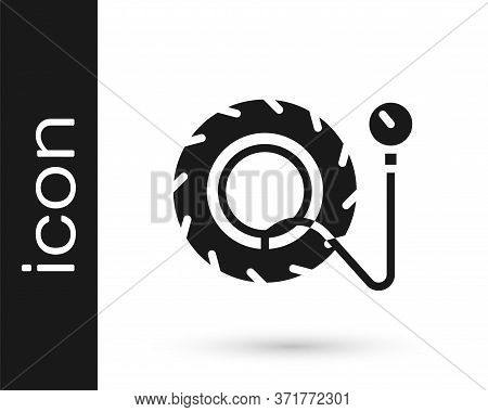 Grey Tire Pressure Gauge Icon Isolated On White Background. Checking Tire Pressure. Gauge, Manometer