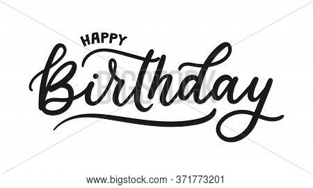 Happy Birthday Greeting Card With Lettering