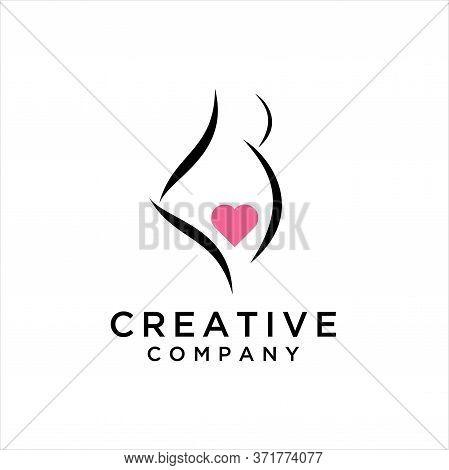 Pregnant Woman, Pregnant Lady Logo Vector Design