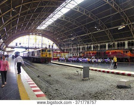 Hua Lamphong Railway Station Bangkok Thailand.bangkok Thailand-15 July 2019:is The Main Railway Stat