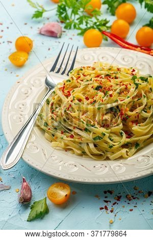 Italian Pasta With Hot Pepper.
