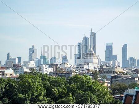 Bangkok Thailand-13 December 2018:landscape Of Bangkok In The Winter.on Bangkok Thailand-13 December