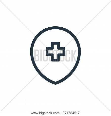 hospital sign icon isolated on white background from  collection. hospital sign icon trendy and mode