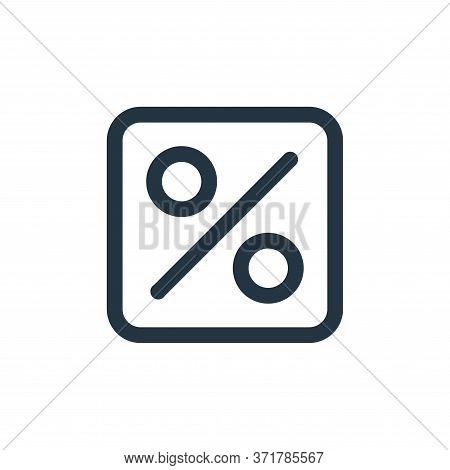 percent icon isolated on white background from  collection. percent icon trendy and modern percent s