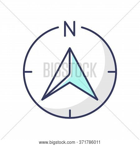 Navigator Arrow Rgb Color Icon. Modern Navigation Technology, Global Positioning System, Geolocation