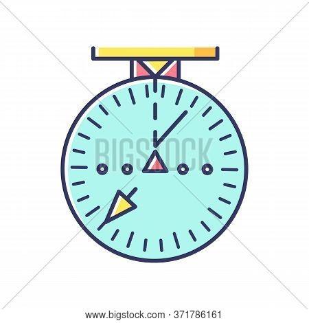 Aeronautical Navigational Radar Rgb Color Icon. Modern Navigation Technology For Aircrafts.. Radio F