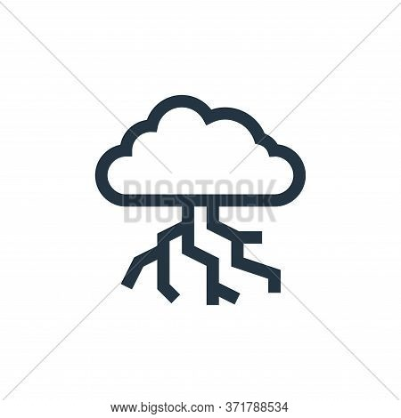 thunderstorm icon isolated on white background from  collection. thunderstorm icon trendy and modern