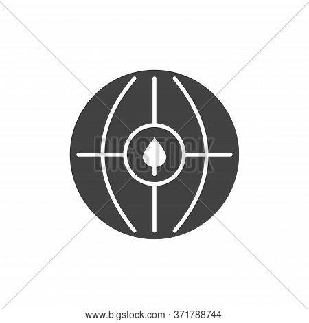 Sustainable Development Black Glyph Icon. Environmental Protection Sign. Ecosystem. Zero Waste Lifes