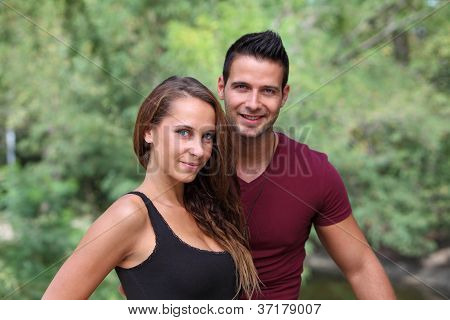 Young couple together outdoor