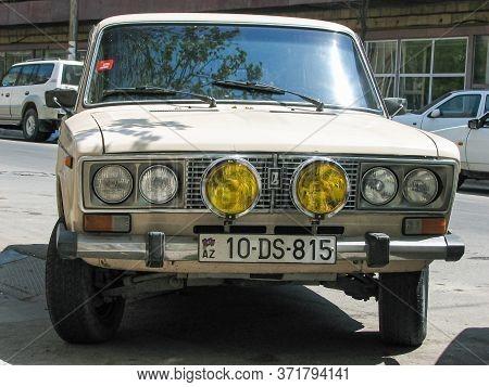 Azerbaijan, Baku - April 29, 2007: Classic Soviet Vintage Sedan Car Vaz 2106