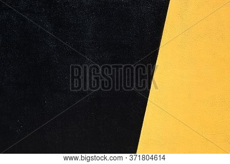 Duo Colored Black And Yellow Urban Wall Texture