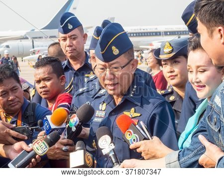 Royal Thai Air Force Don Muang Bangkok Thailand-12 January 2019:air Commander Air Chief Marshal Chai