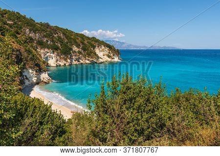 Xigia Beach - Natural Sulfur Spa On Zakynthos Island. Greece.