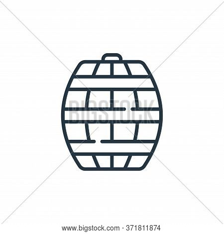 barrel icon isolated on white background from  collection. barrel icon trendy and modern barrel symb