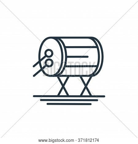 drum icon isolated on white background from  collection. drum icon trendy and modern drum symbol for
