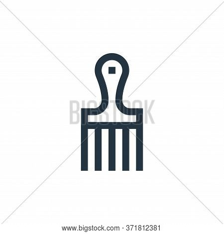 hair comb icon isolated on white background from  collection. hair comb icon trendy and modern hair