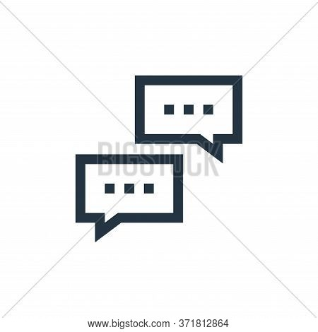 speech bubble icon isolated on white background from  collection. speech bubble icon trendy and mode