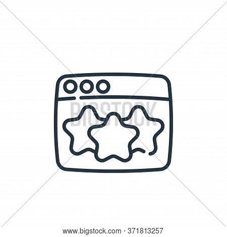 rating icon isolated on white background from  collection. rating icon trendy and modern rating symb