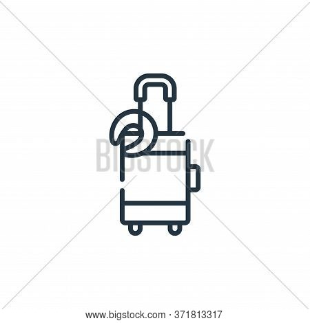 luggage icon isolated on white background from  collection. luggage icon trendy and modern luggage s