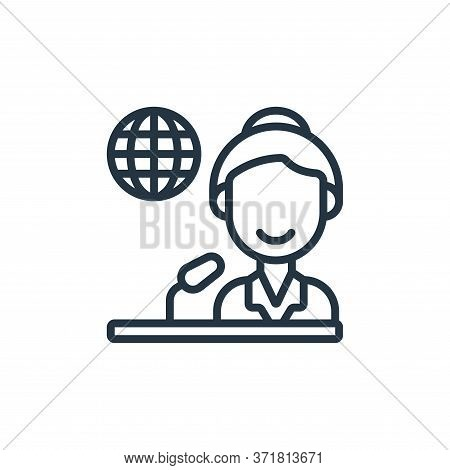 journalist icon isolated on white background from  collection. journalist icon trendy and modern jou