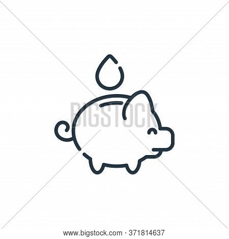 save water icon isolated on white background from  collection. save water icon trendy and modern sav