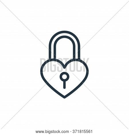 padlock icon isolated on white background from  collection. padlock icon trendy and modern padlock s