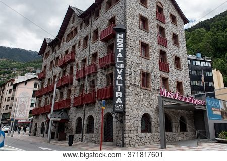 Andorra La Vella, Andorra : 2020 June 8 :   Cloudy Day In Museu Carmen Thyssen In The In The Comerci