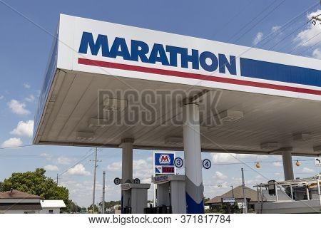 Walton - Circa June 2020: Marathon Petroleum Retail Gas Station. Marathon Petroleum Refines And Mark