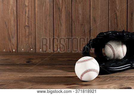 Baseball Glove And Baseball