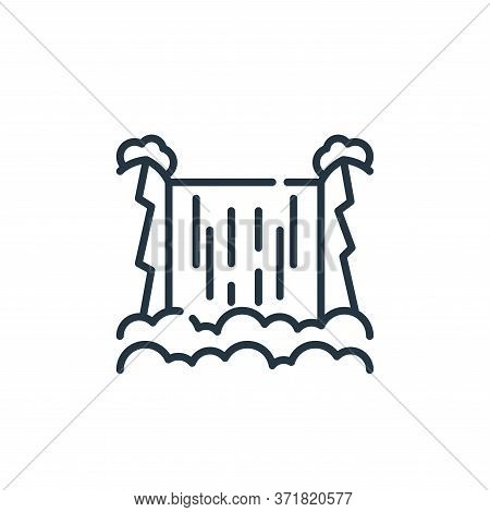 waterfall icon isolated on white background from  collection. waterfall icon trendy and modern water