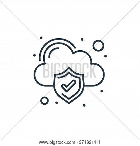 cloud computing icon isolated on white background from  collection. cloud computing icon trendy and