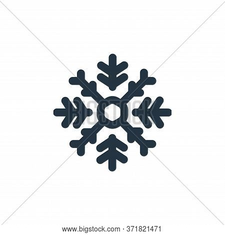 snowflake icon isolated on white background from  collection. snowflake icon trendy and modern snowf