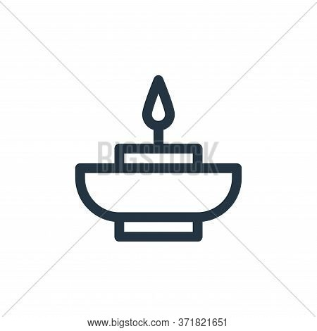 Aromatic Candle Vector Icon Isolated On White Background.