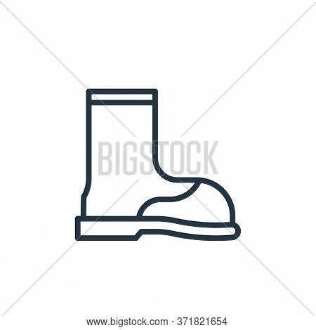 boot icon isolated on white background from  collection. boot icon trendy and modern boot symbol for