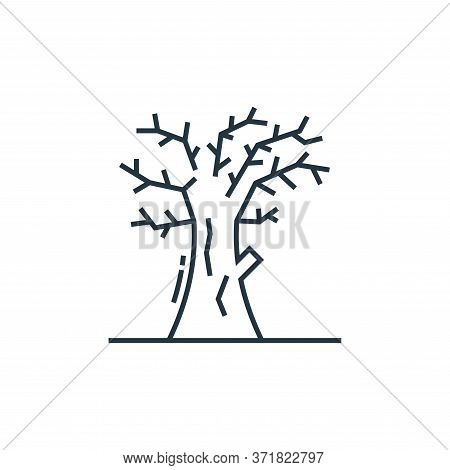 dead tree icon isolated on white background from  collection. dead tree icon trendy and modern dead